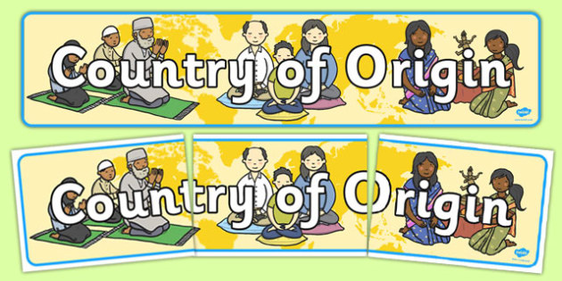 Country Of Origin Display Banner - banners, displays, countries