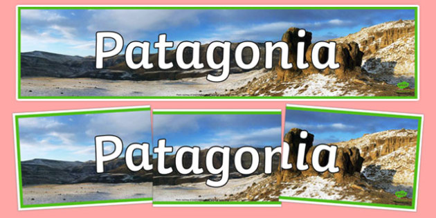 Patagonia Display Banner - Patagonia, Welsh, Welsh Language, Geography, comparison