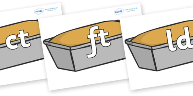 Final Letter Blends on Baked Loaves - Final Letters, final letter, letter blend, letter blends, consonant, consonants, digraph, trigraph, literacy, alphabet, letters, foundation stage literacy