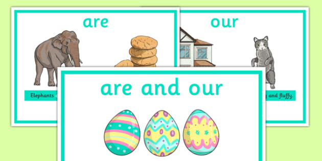 Are And Our Display Posters - are and our, difference between are and our, display, poster, sign, what is the difference, different, spelling, KS2, literacy