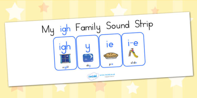 My Igh Family Sound Strip - sound family, visual aid, literacy