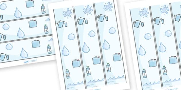Water Display Borders - water, water area, display border, border, bubbles, drop, droplet, water play, water, water display, splash, drop, drip, wet, float, sink