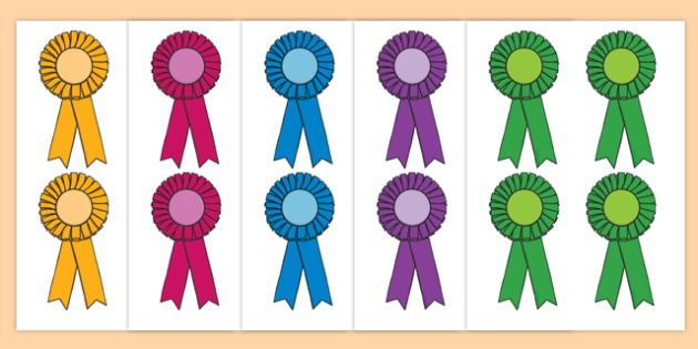 Editable Award Rosettes Reward Rosette Plaque Medal