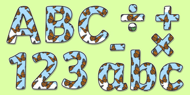 Butterfly Themed Display Lettering - animals, wildlife, nature, outdoors, ks1, eyfs, classroom, display, title, labels, minibeasts, butterflies, butterfly