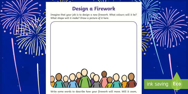 Guy Fawkes Firework Design Worksheet - guy fawkes, New zealand, fireworks