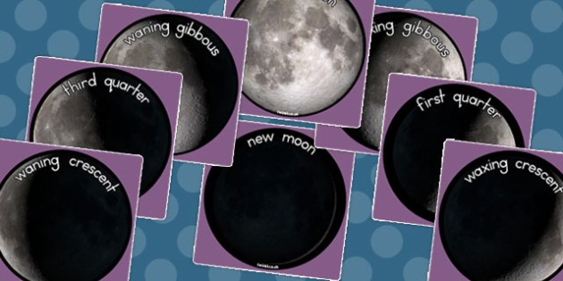 Phases of the Moon Display Photo Cut Outs - Photos, Displays