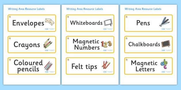 Angel Fish Themed Editable Writing Area Resource Labels - Themed writing resource labels, literacy area labels, writing area resources, Label template, Resource Label, Name Labels, Editable Labels, Drawer Labels, KS1 Labels, Foundation Labels, Founda