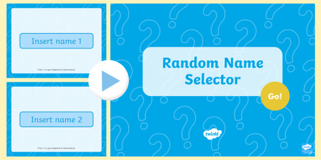 Random Name Selector Editable PowerPoint - random name selector, name selector, powerpoint, editable powerpoint, editable, class management, teaching aid
