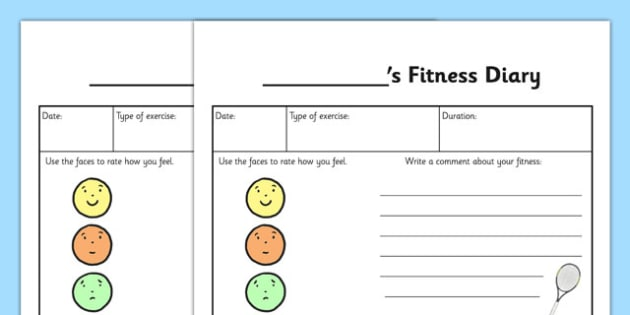 Fitness Diary - fitness diary, fitness, diary, journal, exercise, keeping fit, healthy, health