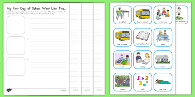 My First Day of School Went Like This Activity Sheet, worksheet