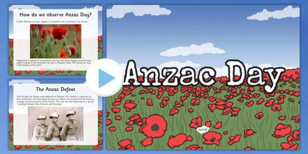 New Zealand Anzac Day PowerPoint - nz, new zealand, Anzac Day, PowerPoint