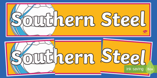 Southern Steel Netball Display Banner-Australia