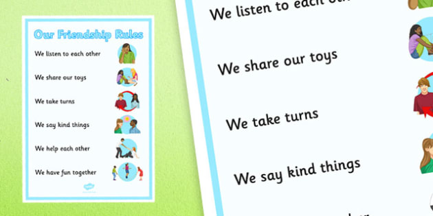 KS3 Our Friendship Rules Poster - ks3, our friendship, rules, poster, display