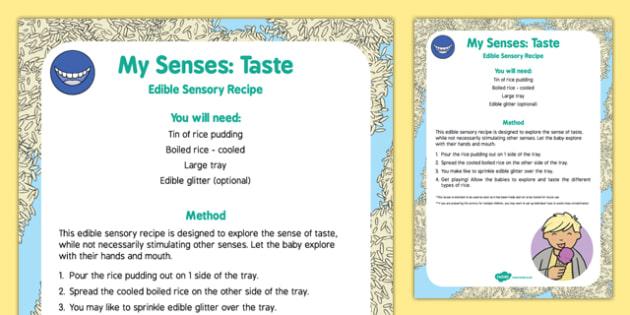 My Senses   Taste Edible Sensory Recipe