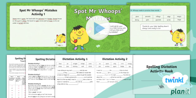 PlanIt Y2 Term 1A Assess and Review Spelling Pack