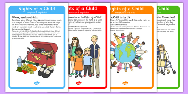 Rights of a Child Poster Pack Romanian Translation - romanian, rights, child, poster, display, pack, rights of a child