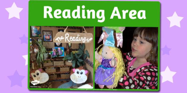 Reading Area Photo Sign - reading, area, photo, sign, display