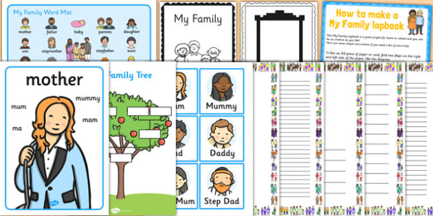 All About Me: My Family Resource Pack - all about me, family