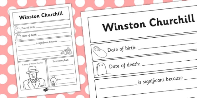 Winston Churchill Significant Individual Writing Frame - writing