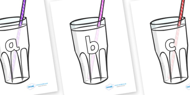 Phase 2 Phonemes on Milkshakes - Phonemes, phoneme, Phase 2, Phase two, Foundation, Literacy, Letters and Sounds, DfES, display