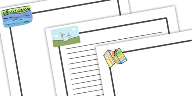 Geography Page Borders - Geography, page border, a4 border, template, writing aid, writing border, page template, knowledge and understanding of the world