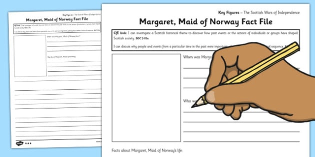 Margaret Maid of Norway Key Figures Differentiated Fact File Template