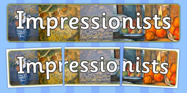 Impressionists Display Banner - impressionists, display, banner