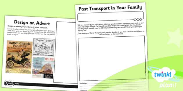 History: Travel and Transport KS1 Unit Home Learning Tasks