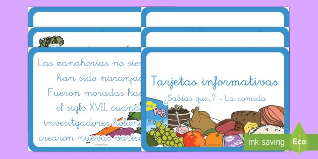 Tarjetas de trivial: La comida - comer, sano, saluable, equilibrada, alimentación, dieta,Spanish