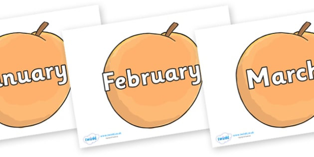 Months of the Year on Giant Peach to Support Teaching on James and the Giant Peach - Months of the Year, Months poster, Months display, display, poster, frieze, Months, month, January, February, March, April, May, June, July, August, September