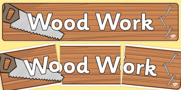 Wood Work Display Banner - wood work, display banner, display