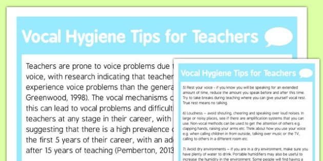 Vocal Hygiene Tips for Teachers - vocal hygiene, tips, teachers, vocal, hygiene, NQT