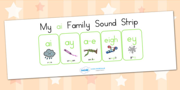 My Ai Family Sound Strip - sound family, visual aid, literacy