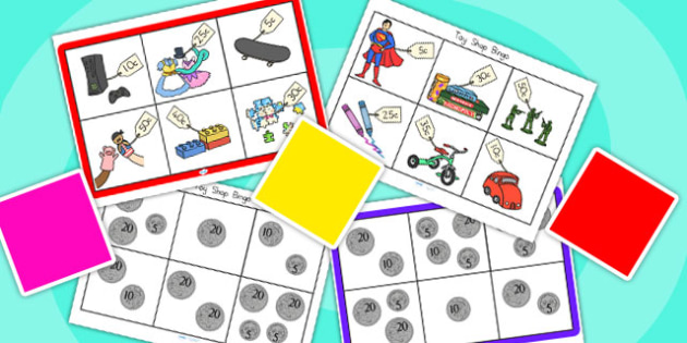 Toy Shop Bingo To 50 Pack - toy shop, toys, bingo, games, money