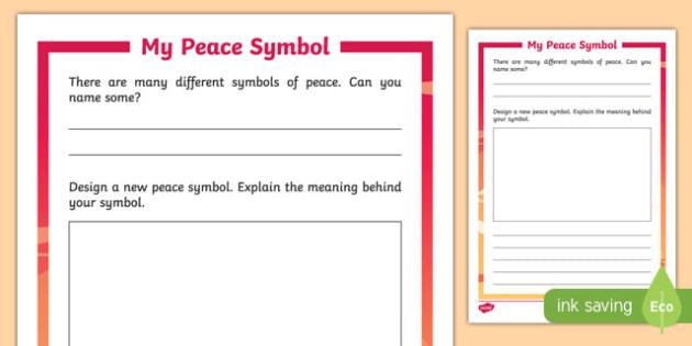 My Peace Symbol Activity Sheet-Irish, worksheet