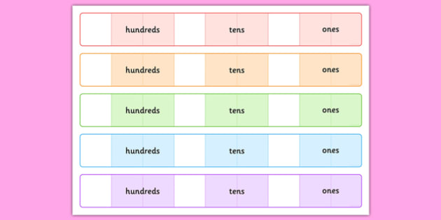 Place Value Number Expander Template H T O - place value, large, numbers, chunking, separating, maths, numeracy