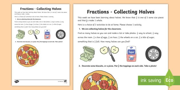 Find a Half Worksheet Home Learning - half, worksheet, home