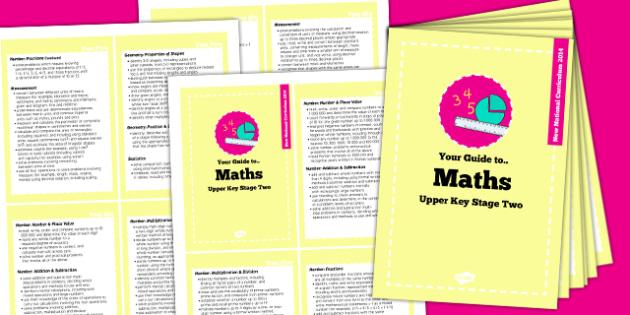 2014 Curriculum Cards UKS2 Maths - new curriculum, planning