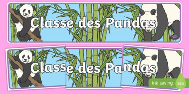 Classe des Pandas