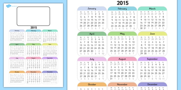 Editable 2015 Calendar - editable, 2015, calendar, months, year