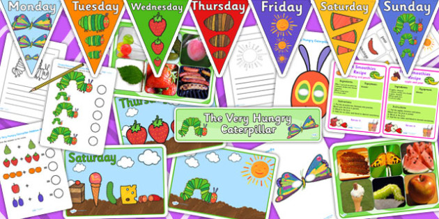 Nursery Resource Pack to Support Teaching on The Very hungry Caterpillar - pack, nursery