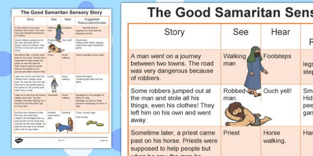 The Good Samaritan Sensory Story - good, samaritan, good samaritan, sensory, story, sensory story, senses, reading, listening, feeling, stories, good samartian