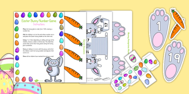 Easter Bunny Number Game Activity Pack - game, activity, pack