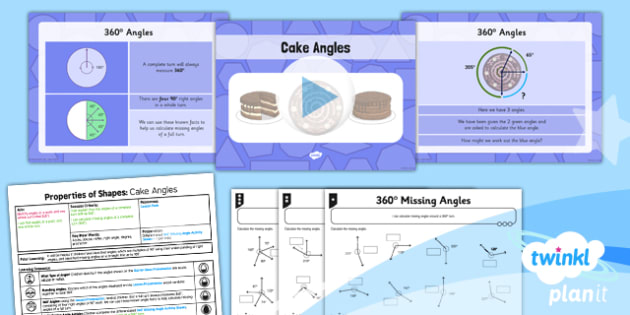 PlanIt Y5 Properties of Shapes Lesson Pack 360 degree Angles - Properties of Shapes, angles, acute, obtuse, reflex, measure angles, draw angles, degrees, protractor, angle measurer, 360 degrees, missing angle, calculate angles, full turn