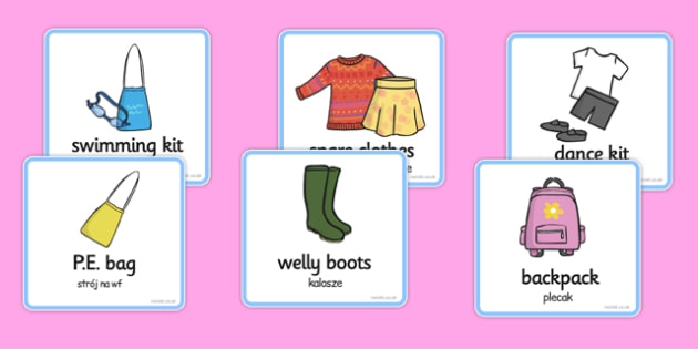 SEN Communication Cards Things To Remember Girl Polish Translation - polish, communication, cards, things, remember