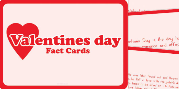 Valentine's Day Display Fact Cards - australia, valentines, day