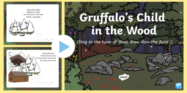 Gruffalo's Child in the Woods Song PowerPoint - The Gruffalo's Child, Julia Donaldson, winter, snow, PowerPoint, songtime, singing