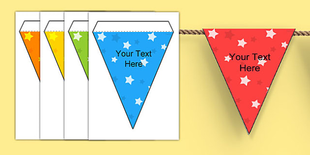 Editable Patterned Bunting Stars - patterned bunting, bunting, themed bunting, editable bunting, editable, classroom display, display bunting, star bunting
