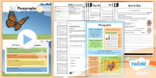 PlanIt Y4 SPaG Lesson Pack: Paragraphs - GPS, spelling, punctuation, grammar, stories, non-fiction