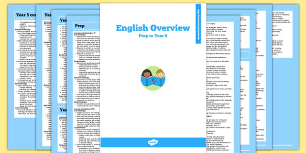Queensland Curriculum Prep to Year 6 English Literacy Syllabus Overview - australia